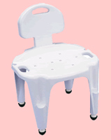 Adjule Composite Bath And Shower Seat With Back