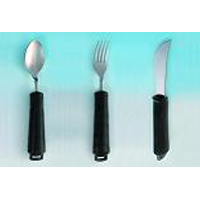 Utensil Set Complete set that includes bendable spoon, bendable fork and rocker knife.